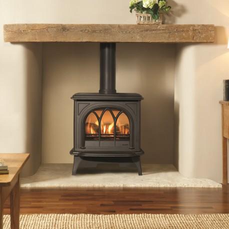 Gazco Huntingdon 30 Balanced Flue Gas Fire Stove (Available in Matt Black, Matt Ivory or Ivory Enamel)