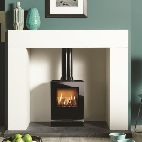 Gazco Riva Vision Small High Efficiency (76%) Conventional Flue Gas Stove. GSTCF