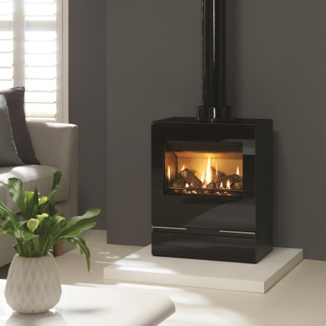 Gazco Riva Vision Medium Stove, High Efficiency (78%) Conventional Flue Gas Stove. GSTCF