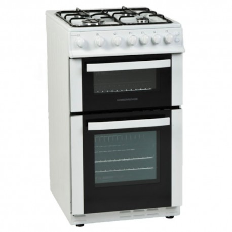 Gas Cooker 50cm NordMende, Natural Gas Twin Cavity Oven TCGCTG51WH