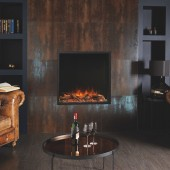 Gazco Skope 75R Inset Electric Fire Frameless Built-in Electric Log Effect Fire