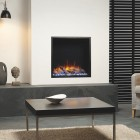 Gazco eReflex 55W Skope 55W 3 Sided Square Wall Mounted Electric Fire or Semi-Recessible to fireplace SKPw