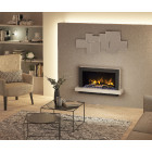 "Wall Mounted Electric Fireplace Suite 1285mm Pryzm Huxton 51"", Electric Fire with Led Vari-colour Flame (ECO DESIGN 2019)"