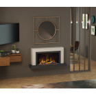 "Wall Mounted Electric Fireplace Suite with Led Electric Fire, Pryzm Vardo 47"", Electric Fire with Led Vari-colour Flame"