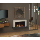 "Wall Mounted Electric Fireplace Suite with Led Electric Fire, Pryzm Vardo 57"", Electric Fire with Led Vari-colour Flame"
