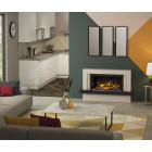 "Wall Mounted Electric Fireplace Suite with Led Electric Fire, Pryzm Vardo 53"", Electric Fire with Led Vari-colour Flame"