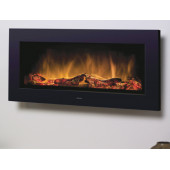 Wall Mounted Electric Fire, Dimplex 2kw Heater, Electric Fire with Glowing Log Bed