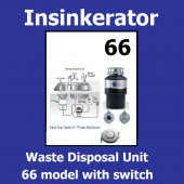 Kitchen Sink Waste Disposal Units. In-Sink-Erator New Insinkerator 66 Food disposal unit. Complete with Air Switch