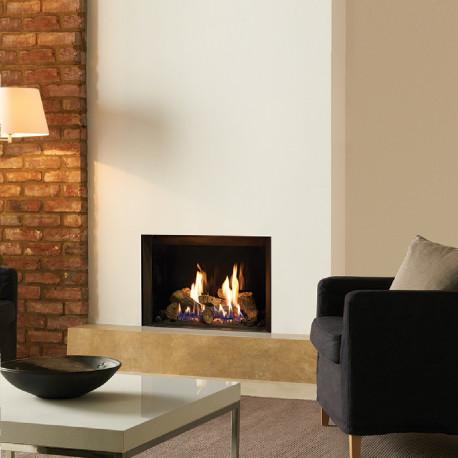 Gas Fire Gazco Riva2 500 Edge High Efficiency (75%) Glass Fronted Chimney Gas Fire. GRV2500cf
