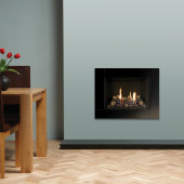 Gas Fire Gazco Riva2 500 Icon XS Glass High Efficiency (75%) Glass Fronted Chimney Gas Fireplace fire. GRV2500cf.