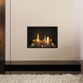 Gas Fire Gazco Riva2 500 Edge High Efficiency (86%) Glass Fronted Balanced Flue Gas Fire. GRV2500bf