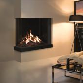Gas Fire Gazco Reflex 75T 3-Sided Fire, High Efficiency (92%) Conventional Flue Gas Fire