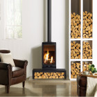 Gas Stove Gazco Gas Vogue Midi T Balanced Flue, High Efficiency (80%) 3 Sided Gas Stove.