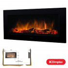 Dimplex SP16 Wall Mounted OptiFlame SP16 (LED Low energy light fire)