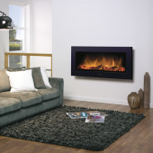 """Dimplex """"Black Framed"""" SP16LED Wall Mounted or Semi Recessed Electric Log Effect Electric Fire ."""