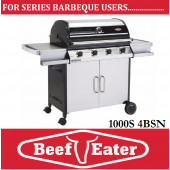 Beef Eater Discovery Series 4 Burner Stainless Steel Barbecue 1000S-4BSb BBQ deluxe Cart Barbeque & Side Burners . TGC-S47240