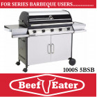 BeefEater BBQ Discovery Series 5 Burner Barbecue Stainless Steel 1000S-5BSb BBQ with deluxe Cart Barbeque . TGCS47250