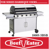 Beef Eater Discovery Series 5 Burner Barbecue Black Enamel 1000S-5BSb BBQ with deluxe Cart Barbeque . TGCS47250