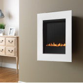 Gas Fire Wall Mounted Flueless Gas Fire Ekofire 15010 Ivory Flueless Gas Fire