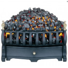 "Electric Inset Fire Burley Halstead Black 2kw Heat Output Basket Fire Fits 16 & 18"" tapered brick or cast fireplace inset."