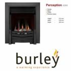 Flueless Gas Fire Burley Perception 4260b,4264BK,4267S, Inset Flueless Gas Fire (Black) Easy Slide Control