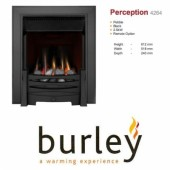 Flueless Gas Fire Burley Perception 4260b,4264BK,4267S, Inset Flueless Gas Fire (Black) Easy Slide Control