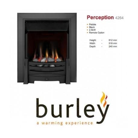 Flueless Gas Fire Burley Perception 4260b,4264BK,4267S, Inset Flueless Gas Fire (Black)