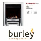 Flueless Gas Fire Burley Perception 4260b,4264BK,4267S, Inset Flueless Gas Fire Easy Slide Control (Stainless Steel)