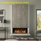 Pryzm Mirage Floating Wall Electric Fire Chimney Breast Fireplace 54""