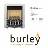 Flueless Gas Fire Burley Environ Inset Flueless Gas Fire Chrome Easy Slide Control