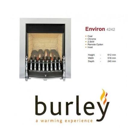 Flueless Gas Fire Burley Environ Inset Flueless Gas Fire Chrome