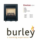 Flueless Gas Fire Burley Environ Inset Flueless Gas Fire Black Easy Slide Control