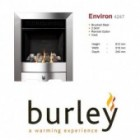 Flueless Gas Fire Burley Environ Inset Flueless Gas Fire Stainless Steel Easy Slide Control