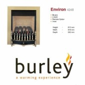 Flueless Gas Fire Burley Environ Inset Flueless Gas Fire Brass Easy Slide Control