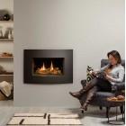 Gazco Riva2 600 CF Gas Fire with Verve XS Graphite Frame