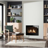 Gazco Riva2 600 Designio Glass Landscape Edge High Efficiency (80.5%) Conventional Chimney Gas Fire. GRV2600Lcf