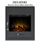 Electric Inset Stove Fire , The HELSINKI Inset Stove Electric Inset fire, Remote control 7 day programmable timer,2 kw heater.