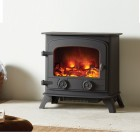 Electric Stove Exe Cast Iron Electric flame effect stove with 2kw remote controlled heating