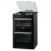 Gas Cooker 55cm Black TGCZCG552BLK Gas Double Oven Cooker with Electric Grill.