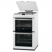 Gas Cooker 55cm White TGCZCG552WH Gas Double Oven Cooker with Electric Grill.