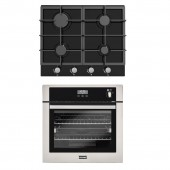 Oven & Hob Pack Stoves BI600STA Built In Gas Single Oven With GOG60BLK 4-Ring Hob.
