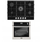 Oven & Hob Pack Stoves BI600STA Built In Gas Single Oven With GOG70BLK 5-Ring Hob.