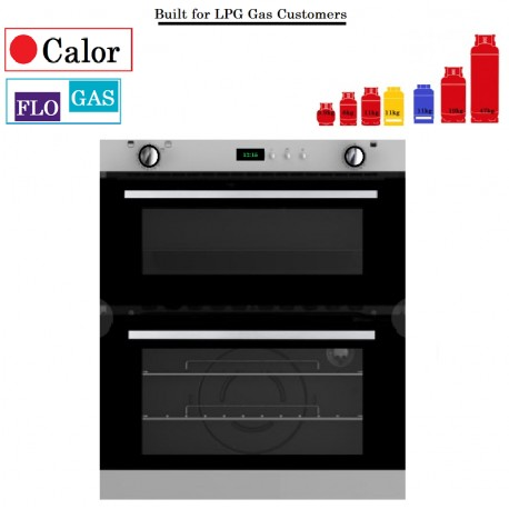 Bottled Gas Oven Double Cavity, oven with top cavity gas grill. TWINLINE 70 REPLACEMENT TGCBI702LPGPG oven with timer