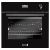Stoves Single Gas Oven Integrated Electric Grill, Programme to off facility, Black,Stainless Steel
