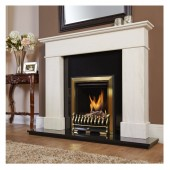 GasFlame Panoramic HE High Efficiency Log Gas Fire ,Glass Fronted, 16*22 opening Thermostatic Remote Gas Fire