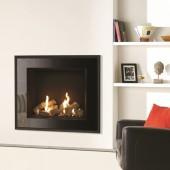 Gazco Riva2 750HL Balanced Flue Gas Fire with Evoke Glass Frame