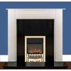 Electric Fire EKO Hortonshire Brass LED 2Kw Coal or Pebble Effect electric fire.