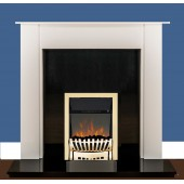 NEXT DAY DELIVERY Brass Electric Fire LED EKO Hortonshire Brass LED 2Kw Coal Effect electric fire.