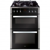 Gas Cooker CDA 60cm Freestanding Double Gas Oven with Gas grill and Gas hob with Wok Burner . TGCCFG610SS