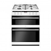 Bottle Gas Cooker,60cm Double Oven Cooker, PLAN60 TGCAFG6450WH White 60cm Wide Cooker (LPG Convertible)